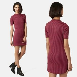 TOPSHOP Body Con Tunic Dress in Red